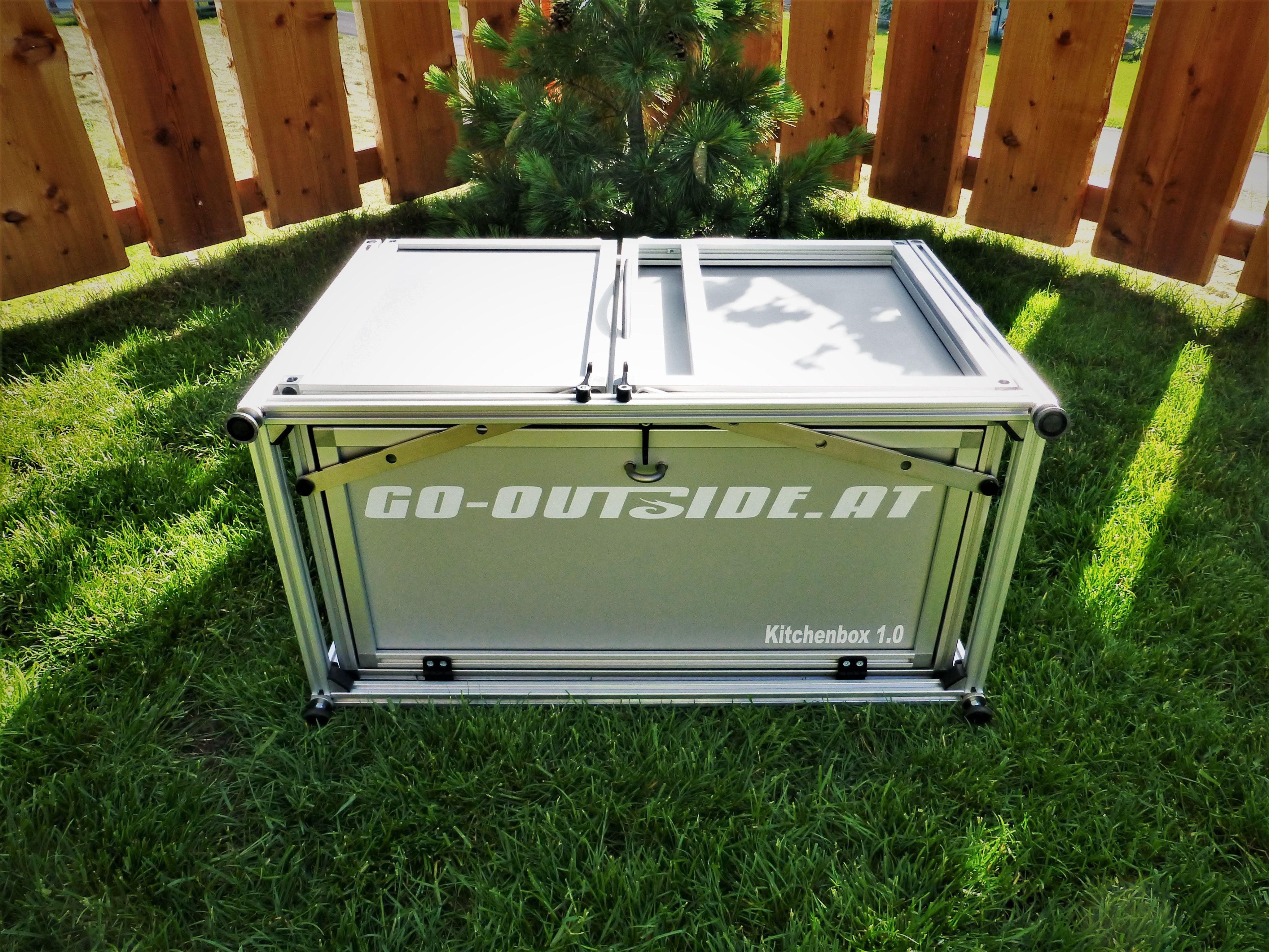 Outdoor Küchen Camping : Bei der kitchenbox handelt es sich um eine tragbare bzw. mobile
