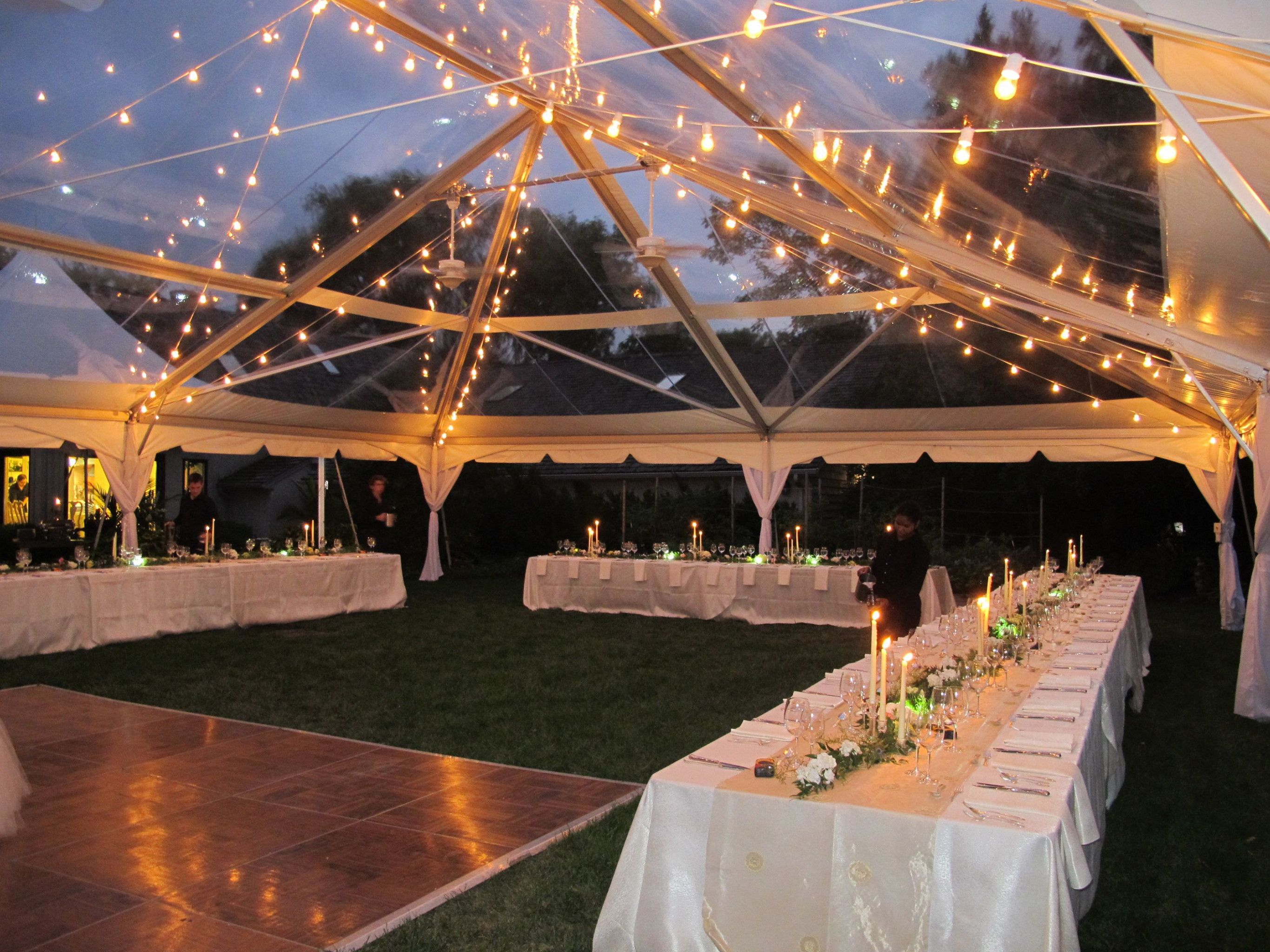 Backyard Wedding Marquee Clear Tent Tent Reception Clear Tent