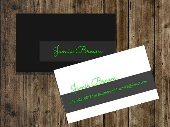 Black neon business card by creativly everything on creativemarket black neon business card by creativly everything on colourmoves