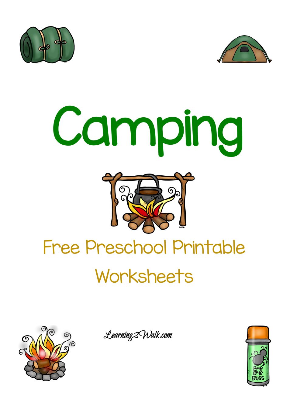 Looking for a for a fun camping printable for your preschoolers try these free preschool printable worksheets that is dedicated to camping