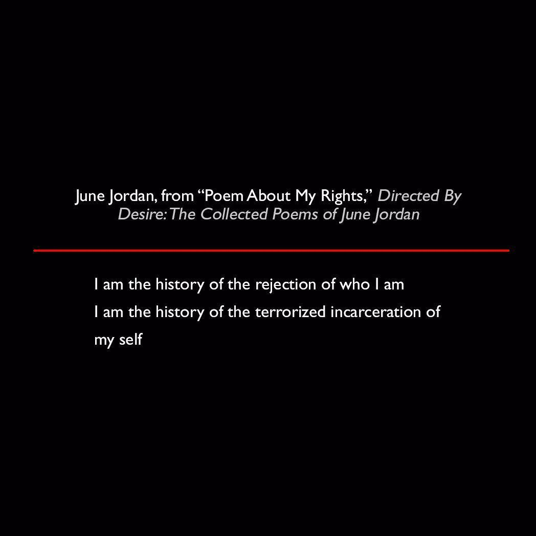 June Jordan from Poem About My Rights Directed By Desire ...