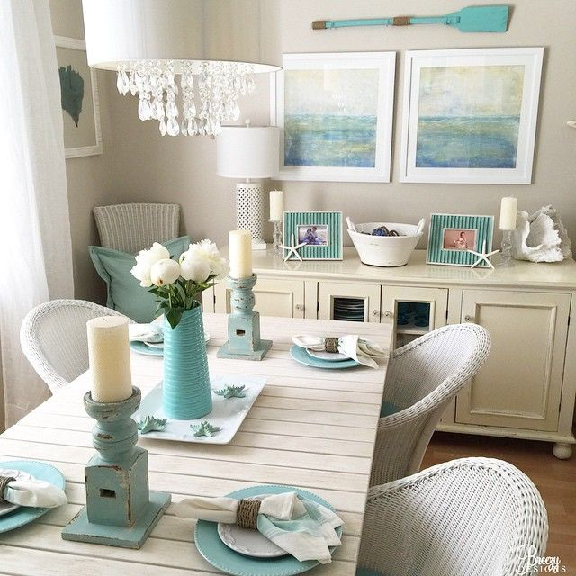 Coastal Themed Dining Room: 20 Turquoise Room Decorations Aqua Exoticness Ideas And