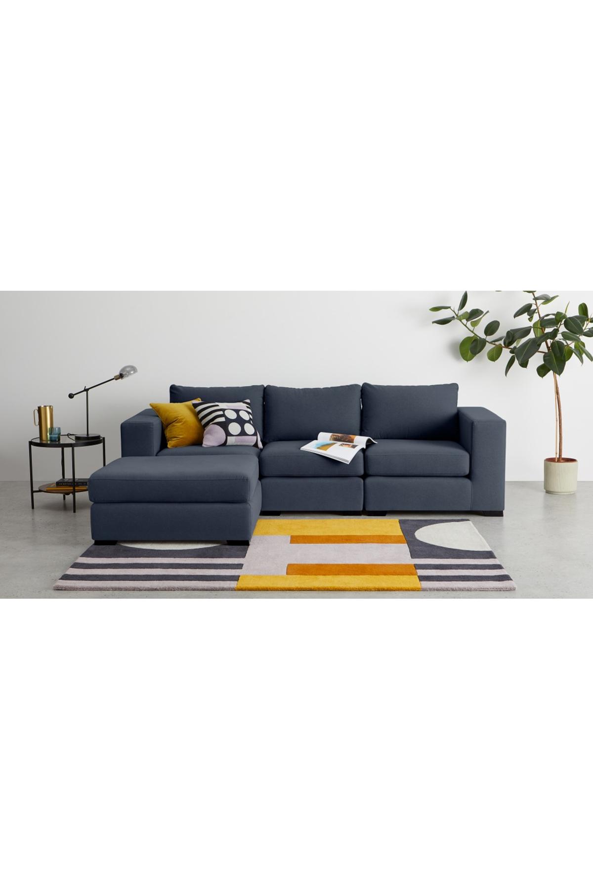 Best Made Deep Blue Cotton Mix Modular Sofa Modular Sofa 640 x 480