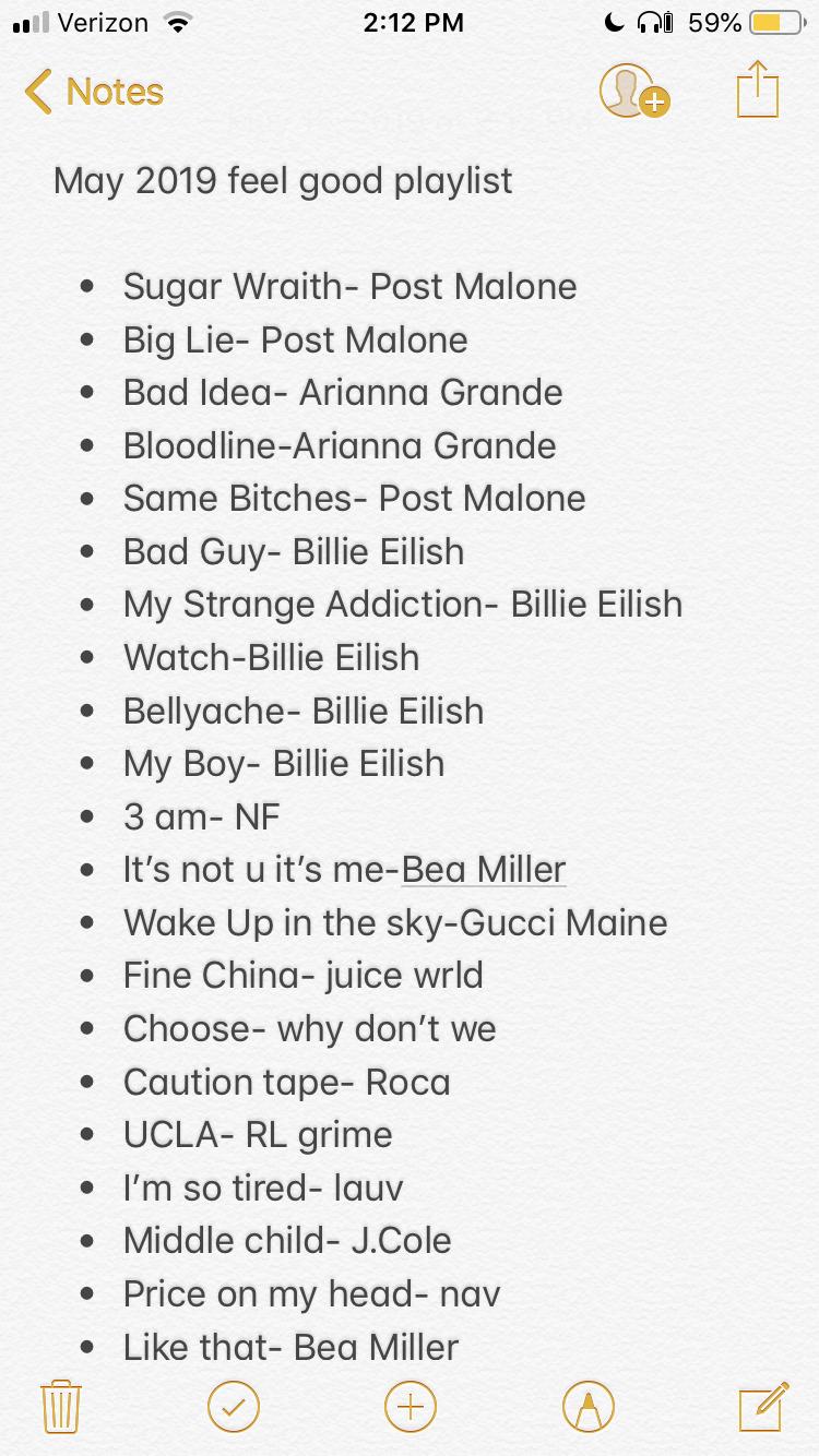 May 2019 Feel Good Playlist Rap music playlist, Song