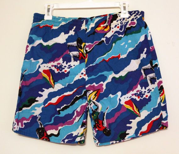 86a9701d70 Vintage 80s surf swim trunks jams board shorts by 2artists216 | Jams ...