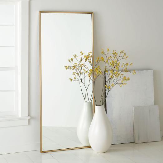 Metal Framed Floor Mirror   Floor mirror, Bedrooms and Master bedroom