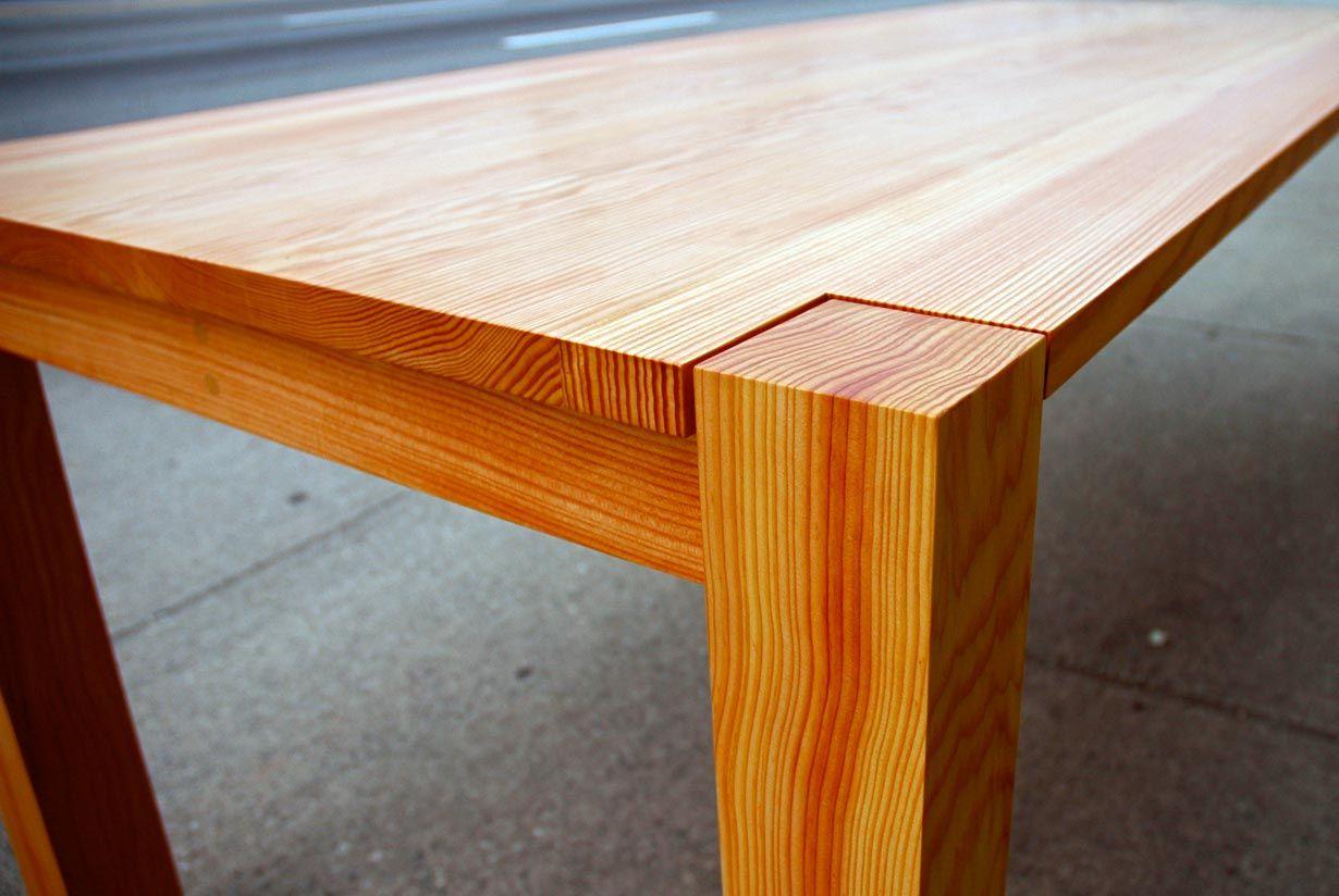 Charmant Cove   Reclaimed Douglas Fir Table Corner Detail