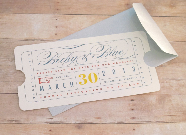 Vintage Ticket - Save the Date. http://www.ecrafty.com/c-81-craft-supplies.aspx