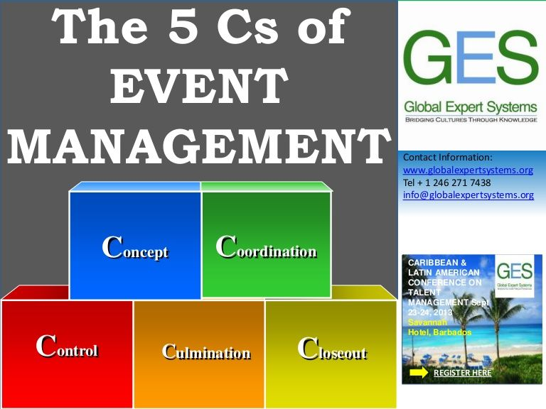 The-5-cs-of-event-management by Global Expert Systems Inc