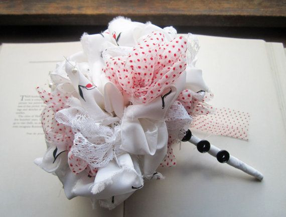Handmade Vintage Fabric Bouquet  Wedding Bouquet  Gift  by bedouin