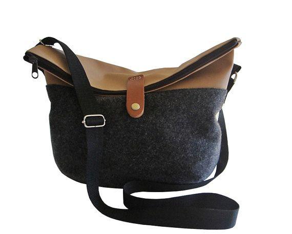 Hey, I found this really awesome Etsy listing at https://www.etsy.com/listing/206542215/shoulder-bag-black-felt-cross-body-bag