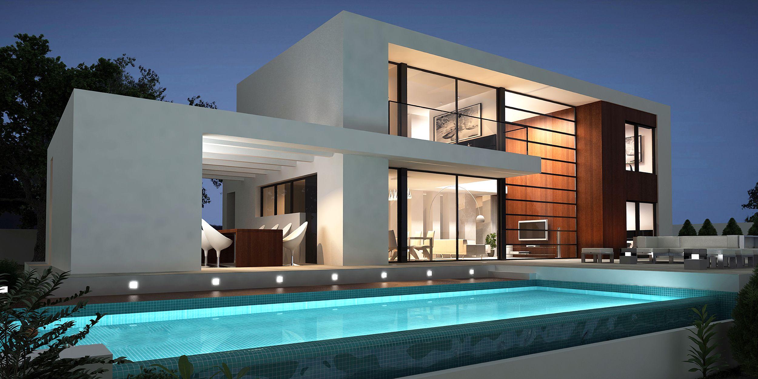 Astounding Modern Villa Design with Exotic Backyard Pool ...