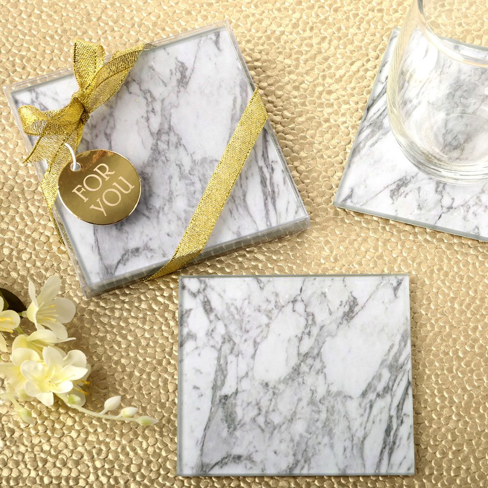 Marble Design Glass Coaster Wedding Favors Wedding Coasters Favors Wedding Gift Favors Homemade Wedding Favors