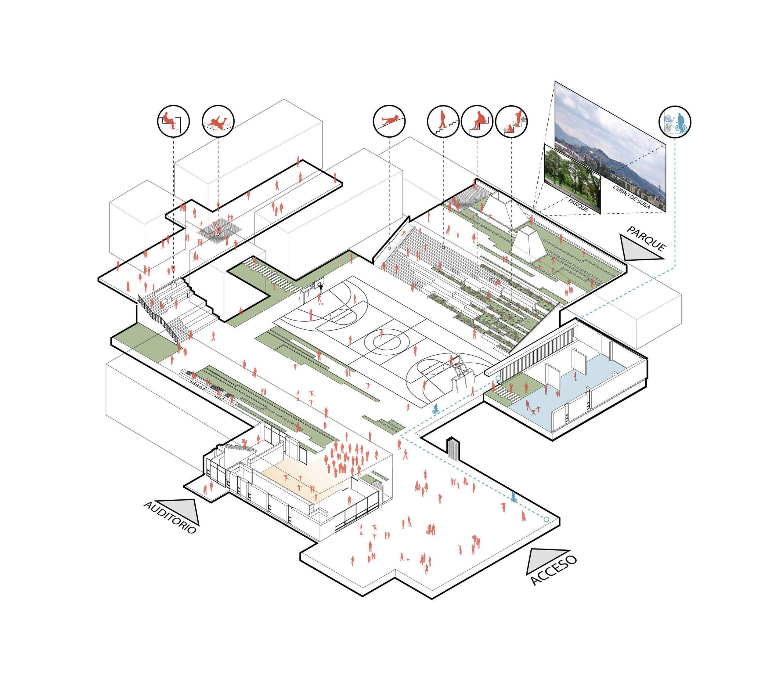 1° Mención de honor. Concurso público de anteproyecto arquitectónico: Colegio Lombardia | Anteproyecto arquitectonico, Mencion de honor, Arquitectonico