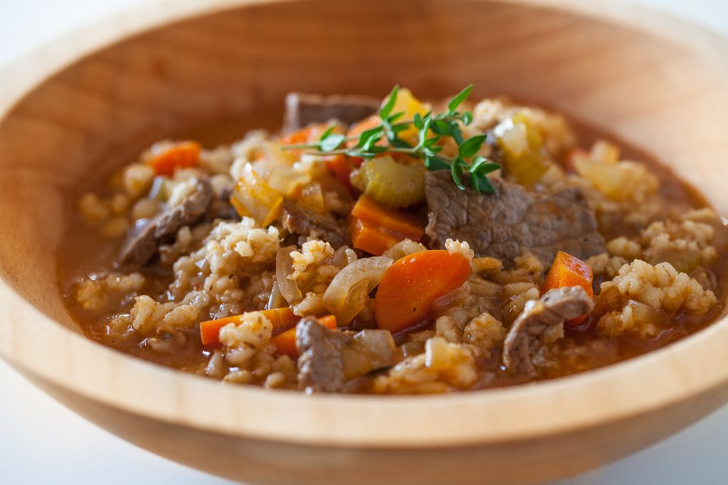 Quick Beef and Barley Stew Recipe