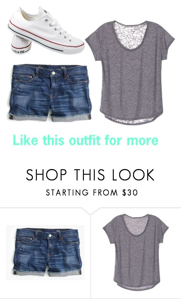 """""""Lazy day"""" by emmashae1 ❤ liked on Polyvore featuring J.Crew and Converse"""