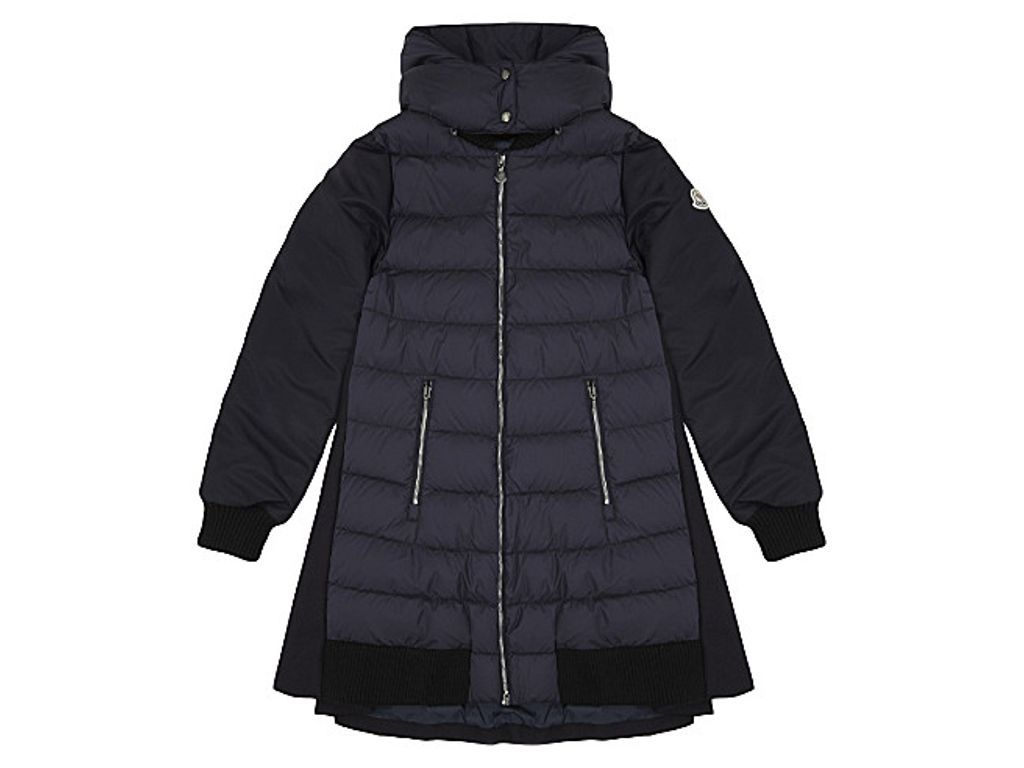 MONCLER Blois virgin wool puffa fronted coat 4-14 years