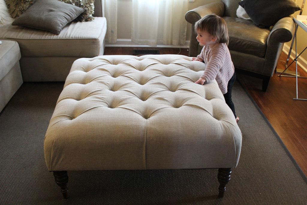 Exceptional DIY Upholstered Ottoman Coffee Table