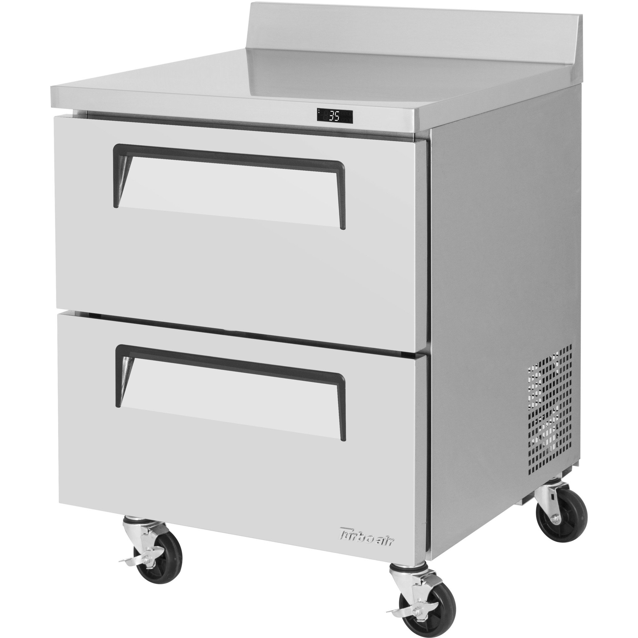 Turbo Air Commercial Work Top Refrigerator 28 With 2 Drawers