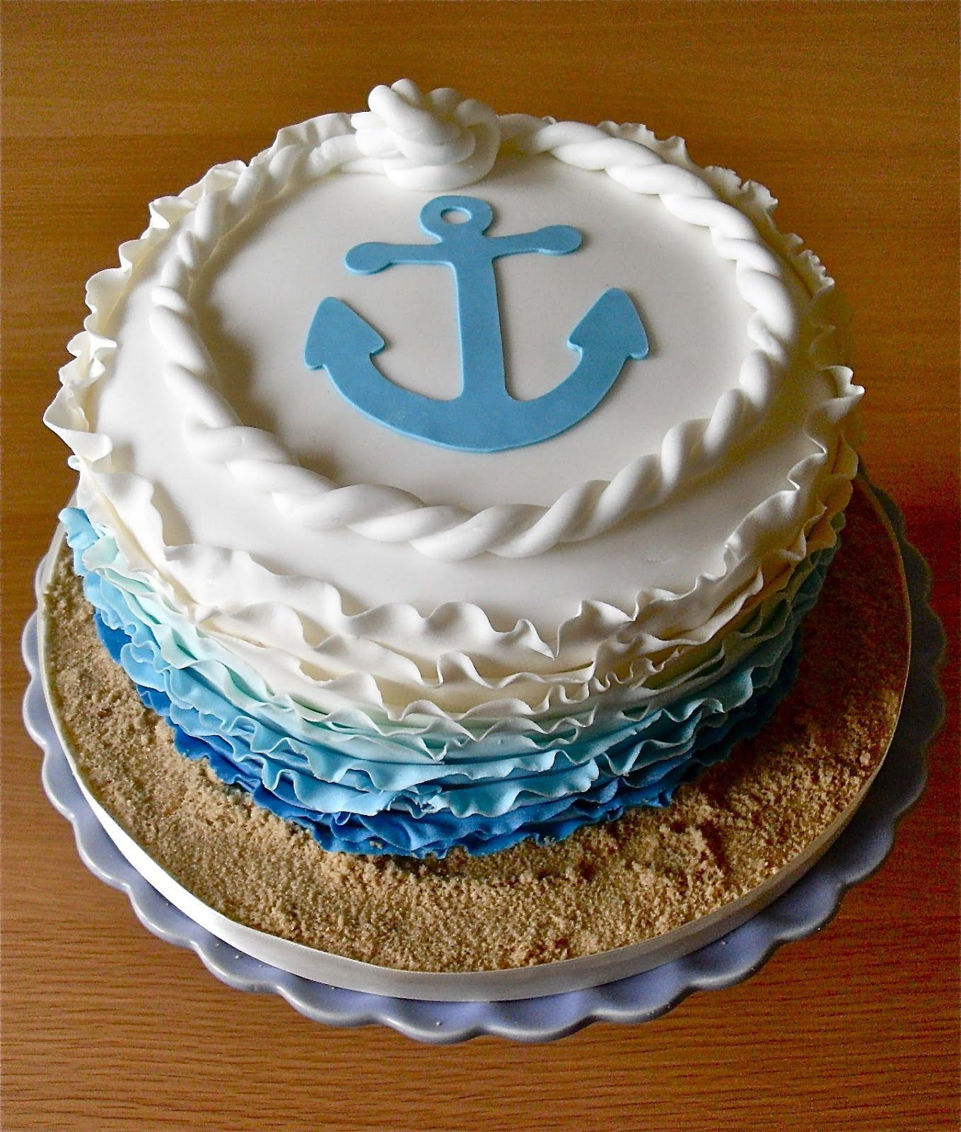 Anchor cake Food Pinterest Anchor cakes Cake and Anchor