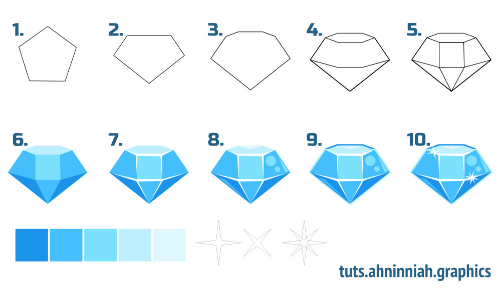 Inkscape tutorials | How to draw gems | Miscellaneous ...