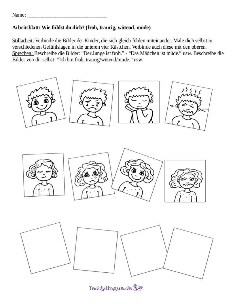 Arbeitsblätter | Teddylingua | Blatt vorlage | Pinterest | German
