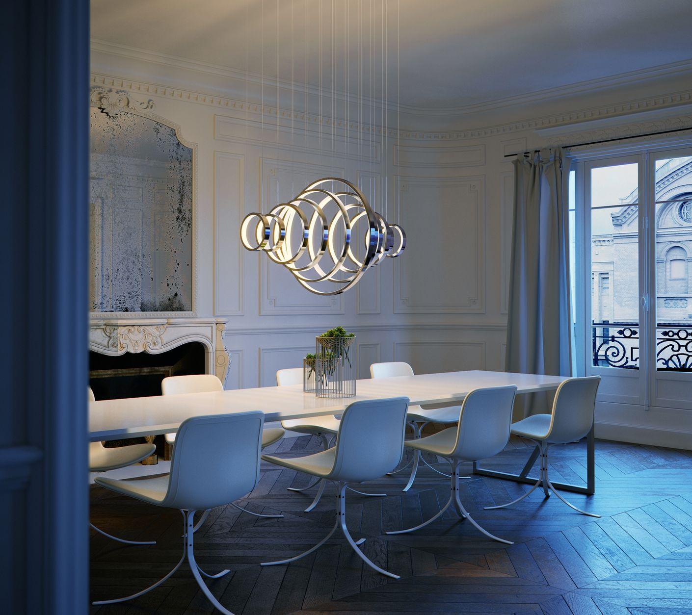 Maxim dining albert mizuno chaos group interior lighting modern lighting lighting design