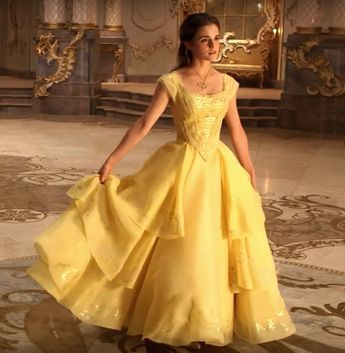 """Emma's """"Belle's yellow gown from Beauty and the Beast A Costume Study"""