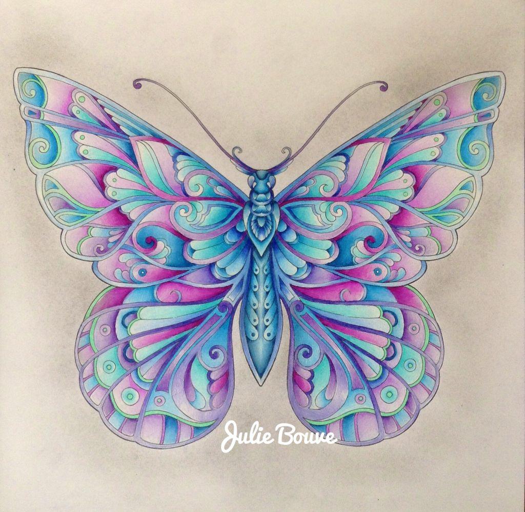 Magical Jungle Colored By Julie Bouve Johanna Basford Coloring Basford Coloring Book Basford Coloring [ 998 x 1024 Pixel ]