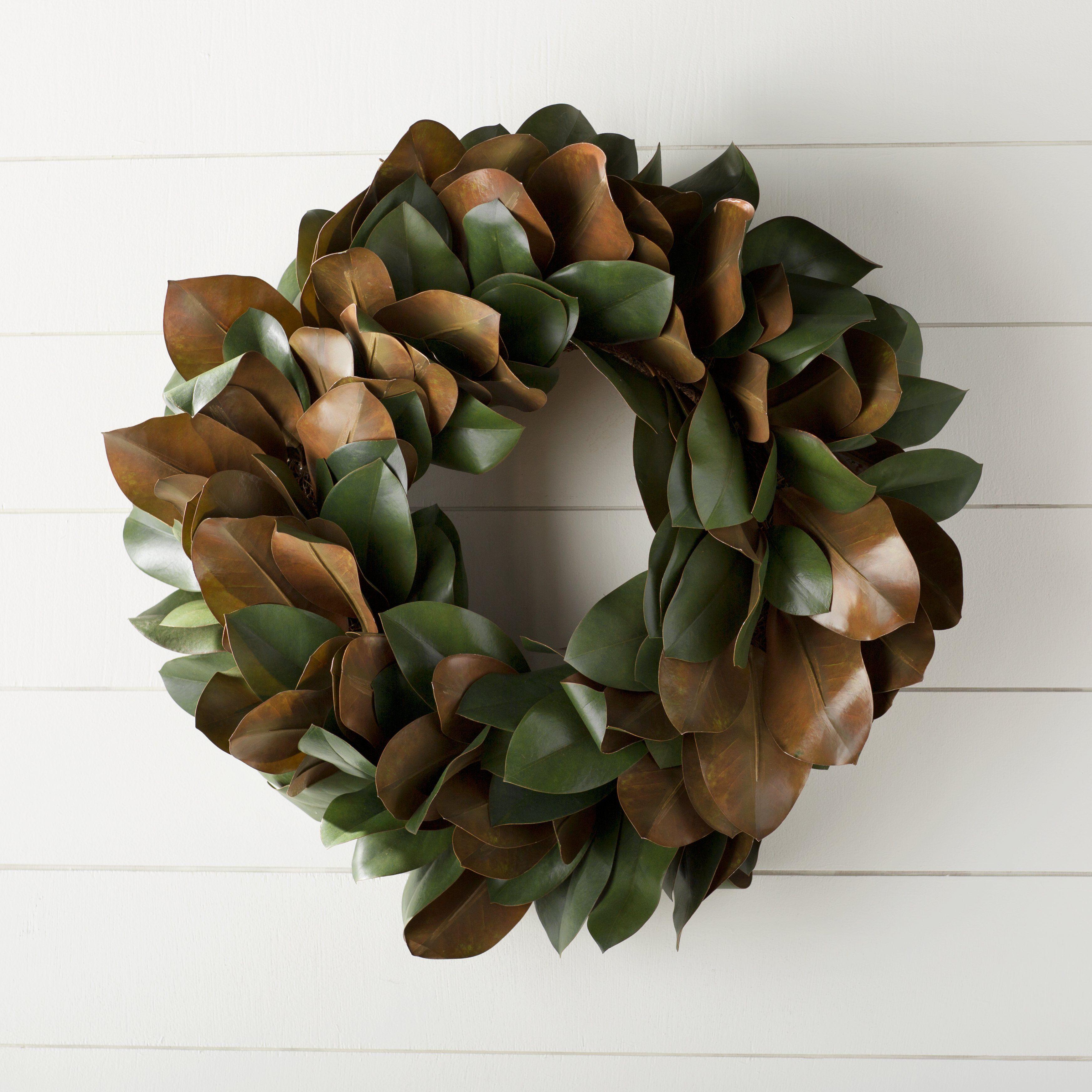 Laurel Foundry Modern Farmhouse™ Gilt Magnolia Leaf Wreath