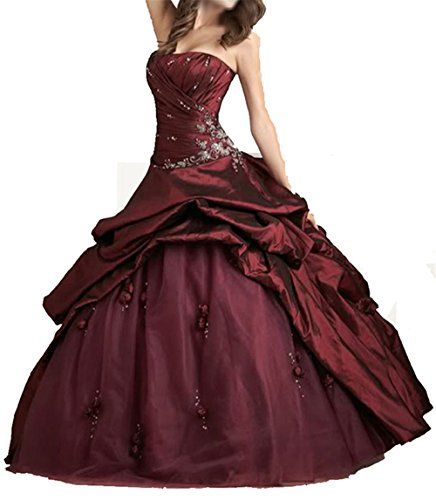 Burgundy Wedding Dress Quinceanera Evening Homecoming with Jacket * You can find more details by visiting the image link.
