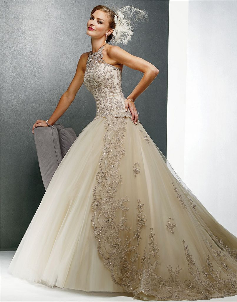 My wedding dress in a different color ) Maggie Sottero