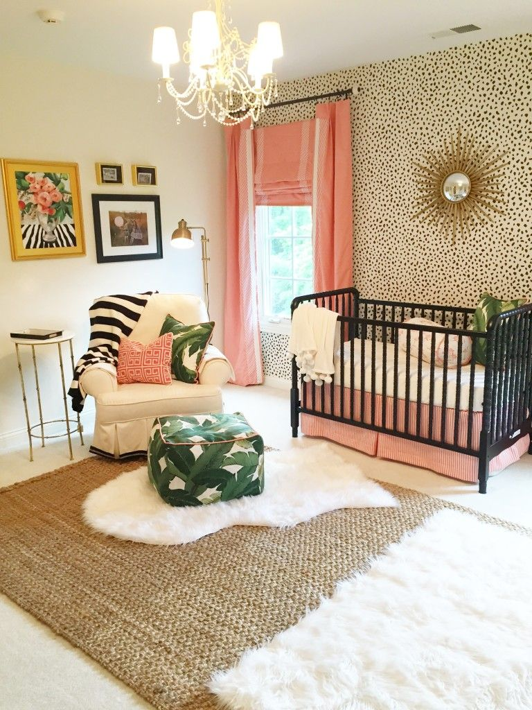 Edie's Palm Beach Inspired Nursery Girl room, Baby room