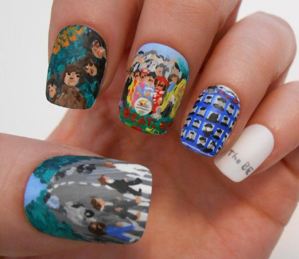 The Beatles Nail Art by henzy89 on deviantART