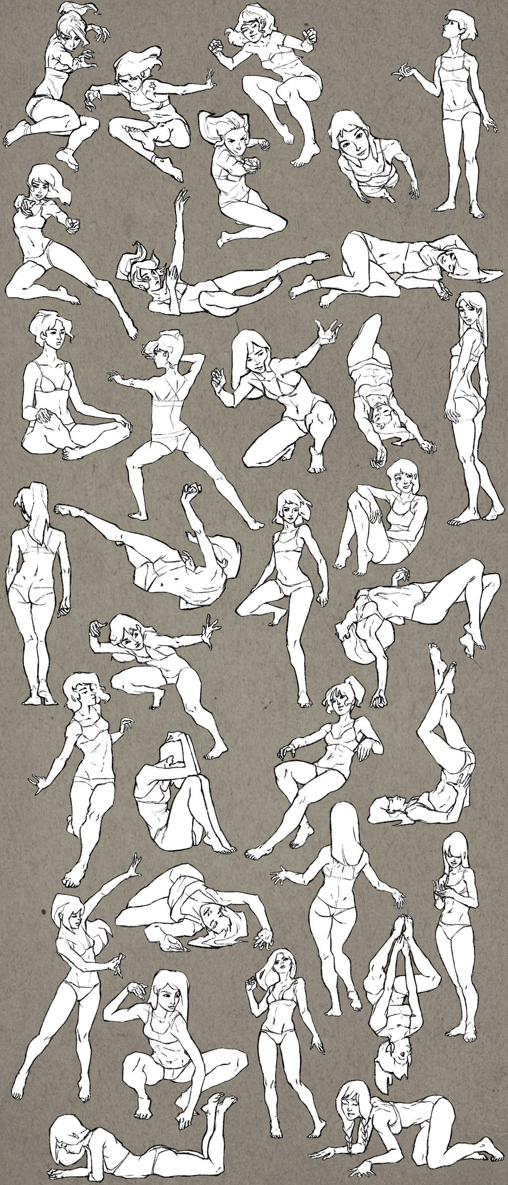 Female Study Sketchdump By Eleonorabertolucci On Deviantart Art Poses Art Reference Poses Figure Drawing Reference