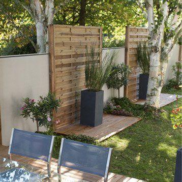 panneau en bois droit occultant l 180 x h 200 cm marron. Black Bedroom Furniture Sets. Home Design Ideas