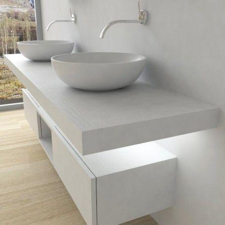 Mobili bagno Mensola per lavabo con LED nel 2019 Bagni