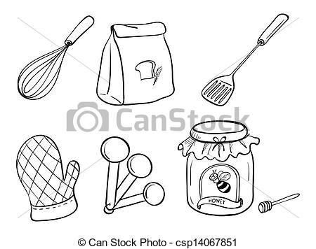 Colorear Utensilios De Cocina Buscar Con Google Dibujos
