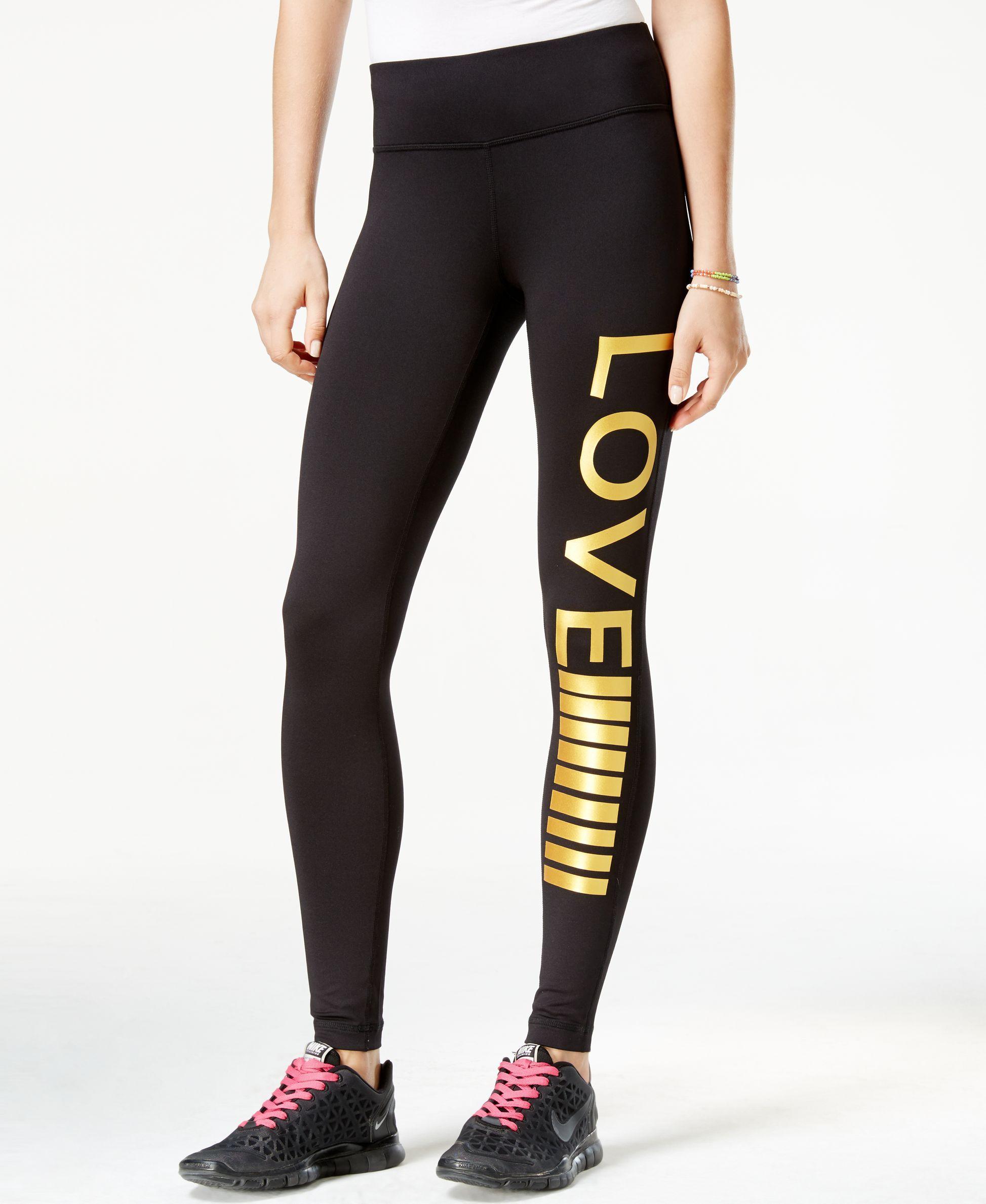 6126771104717 Material Girl Juniors' Love Graphic Leggings, Only at Macy's ...