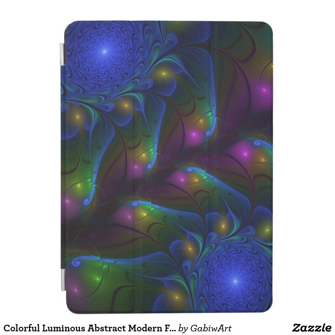 Colorful luminous abstract modern fractal art ipad air