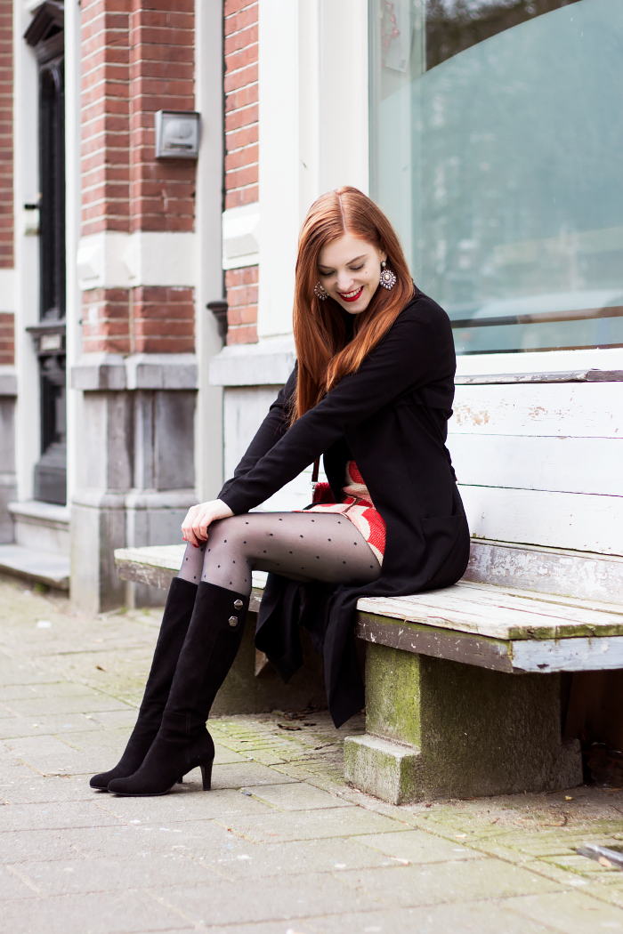Retro Boots Skirt Outfit Sonja Fashion Blogger