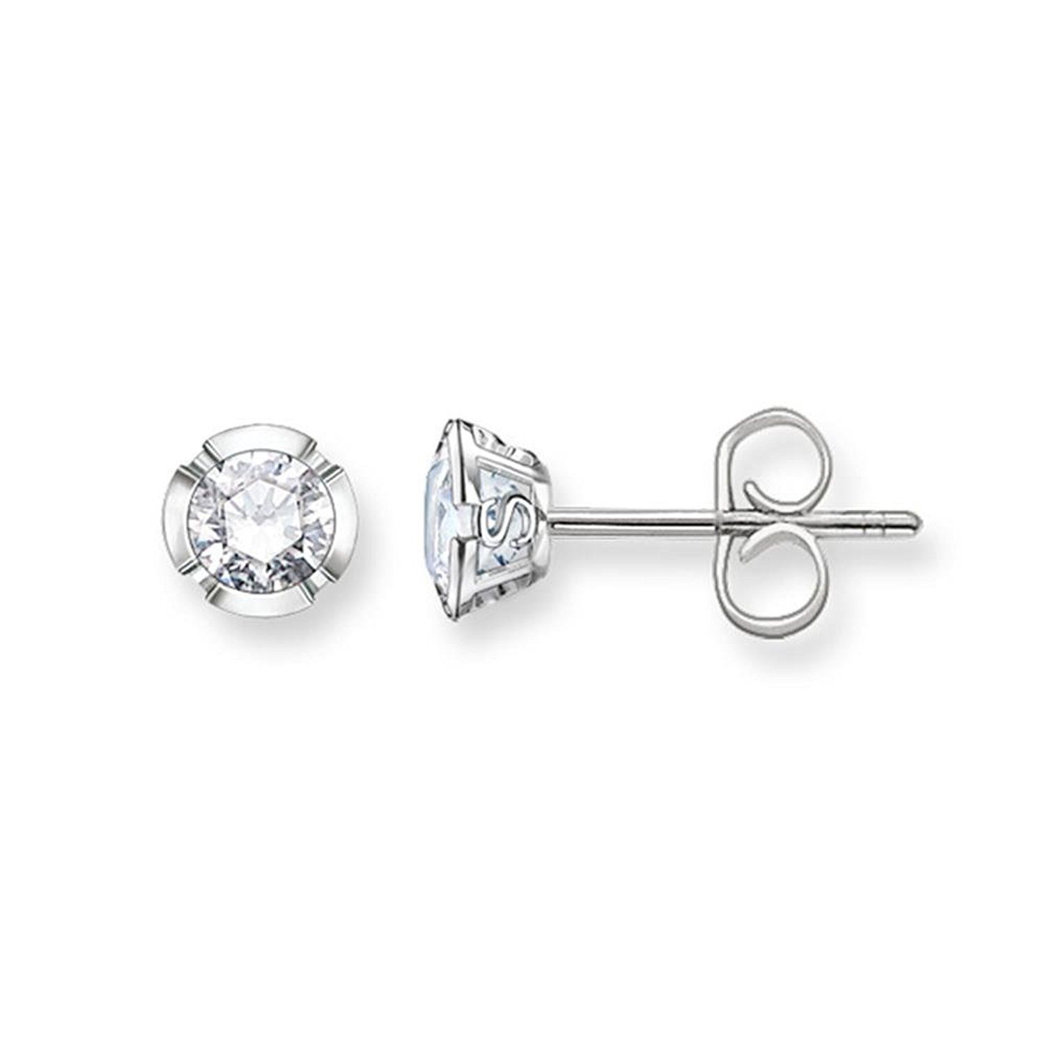 Thomas Sabo Cubic Zirconia 925- Sterling Silver Stud Earrings JO8S8nTeb
