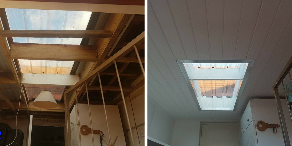 Skylight Designed With Ibr Roof Sheets Isoboard Thermal Insulation Isoboard Thermalinsualtion Insulationboard Skylight Design Skylight Modern Skylights