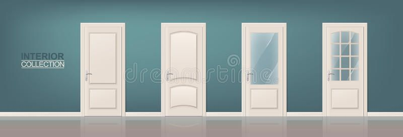Photo of Wooden Door Set stock vector. Illustration of entrance – 68166120