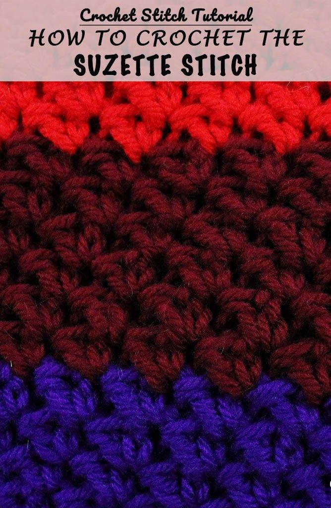 How To Do The Suzette Stitch Crochet Stitch Tutorial Homemade