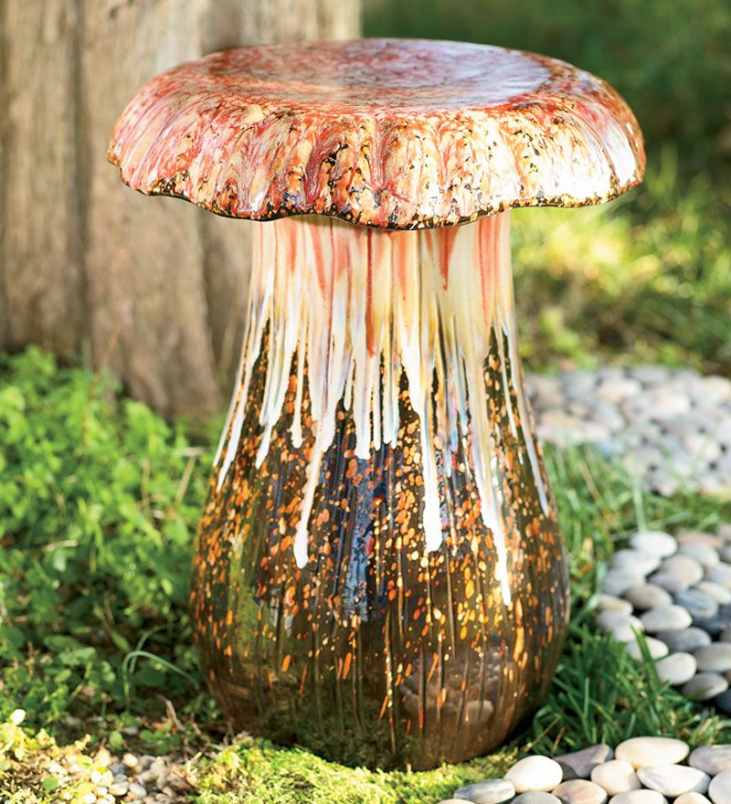 #Ceramic Mushroom Stool