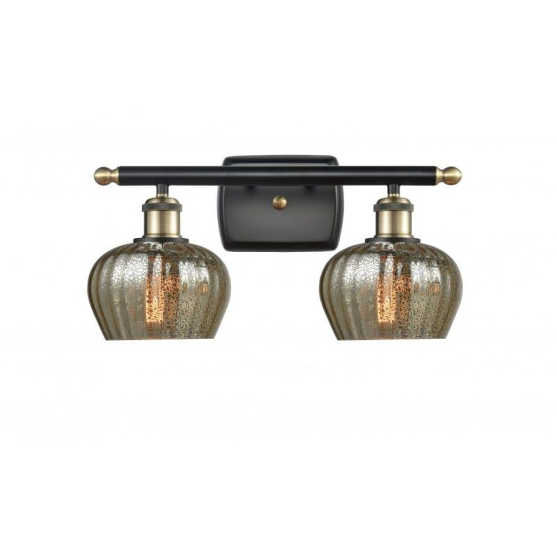 "Photo of Innovations lighting 516-2W Fenton Fenton 2 Light 16 ""wide washstand lamp black antique brass / mercury interior lighting bathroom lamps washstand lamp"
