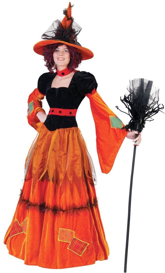 Fantasia Bruxa Luxo Feminina Elegante Laranjada Halloween Festa - halloween costume ideas plus size