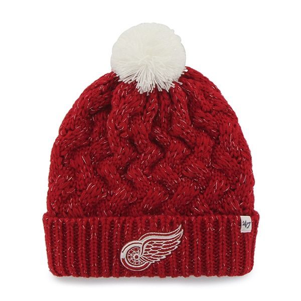 a3f98a1f810 Detroit Red Wings Women s Red Fiona Cuff Knit Hat