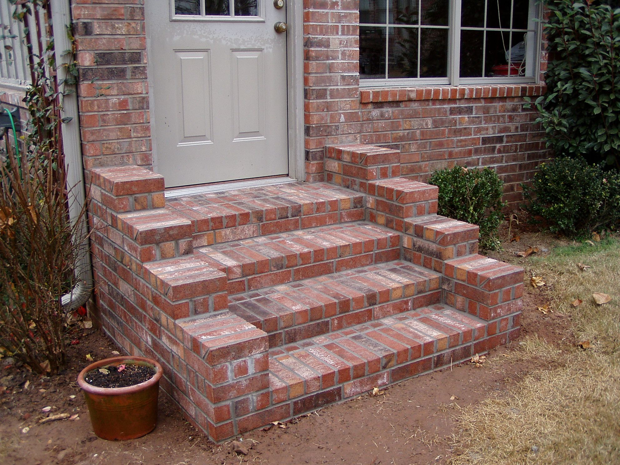 Brick steps hardscapes pinterest brick steps bricks for Brick steps design ideas